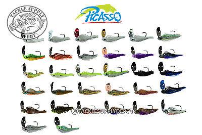 Blade 2 Hooks (Picasso Shock Blade Bladed Jig 1/2oz Hook 5/0 -)