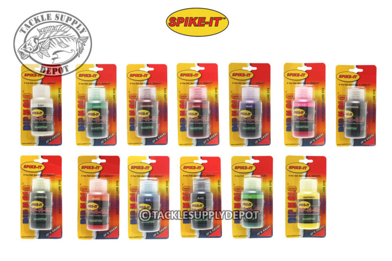 Spike It Dip-N-Glow Worm Dye Gamefish 2fl oz - Pick