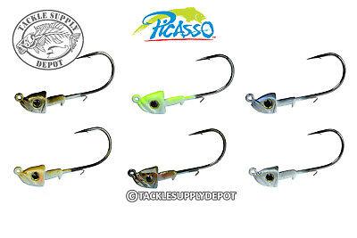 Pick Picasso Jig Head Double Barrel Underspin Swimbait 3//8oz Gamakatsu 3//0