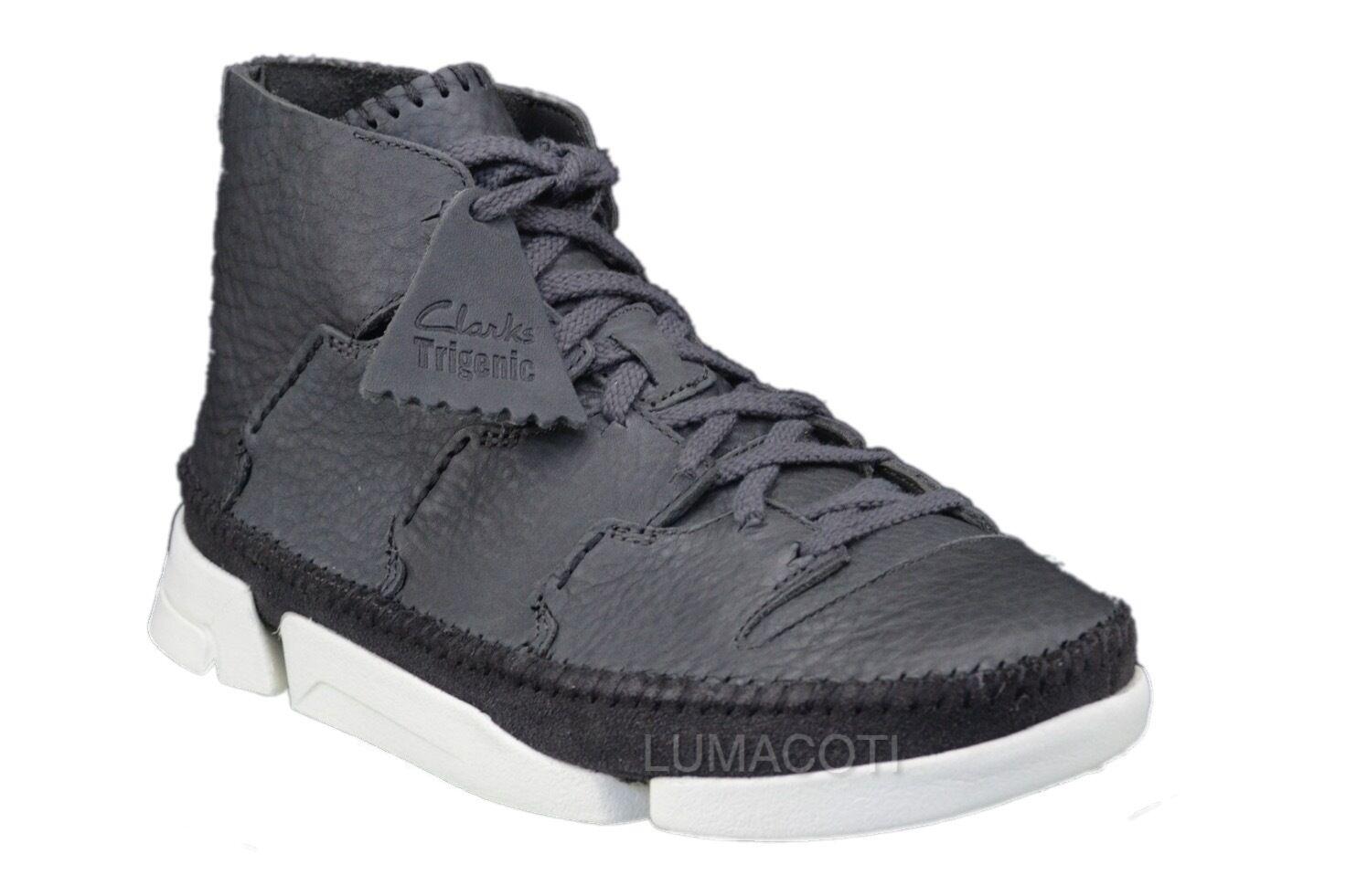 Clarks Originals Trigenic Flow Slate Leather Mens Ankle Boots 26019857