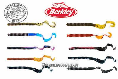 Berkley PowerBait Power Worm Ribbon Tail Texas Carolina Rig 10in 8pk Pick 10 Power Worm