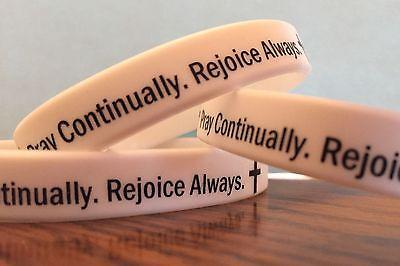 Christian Silicone Bracelet PRAY CONTINUALLY REJOICE ALWAYS