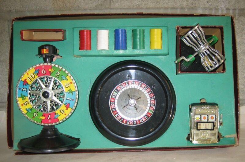 VTG NO 51 MONTE CARLOWE CASINO GAMBLING GAME SET IN BOX & INSTRUCTIONS INTACT