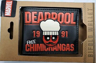 Marvel Deadpool Chimichangas Bifold Wallet NWT