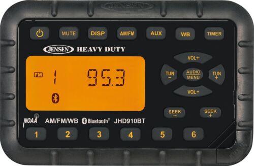 JENSEN Heavy Duty JHD910BT Mini Waterproof AM/FM/WB/BT Radio, NOAA Weatherband