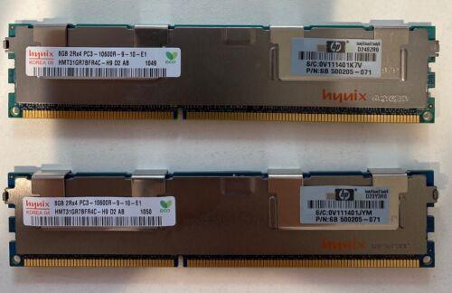 16GB (2x8GB) HP 500205-071 2Rx4 PC3-10600R Server RAM Hynix HMT31GR7BFR4C