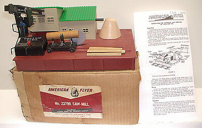 American Flyer Rare 23796 Operating Saw Mill Close to New OB