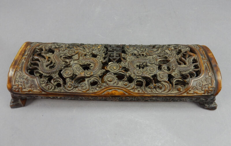 Antique Chinese Intricately Carved  Box 10.5 Inches