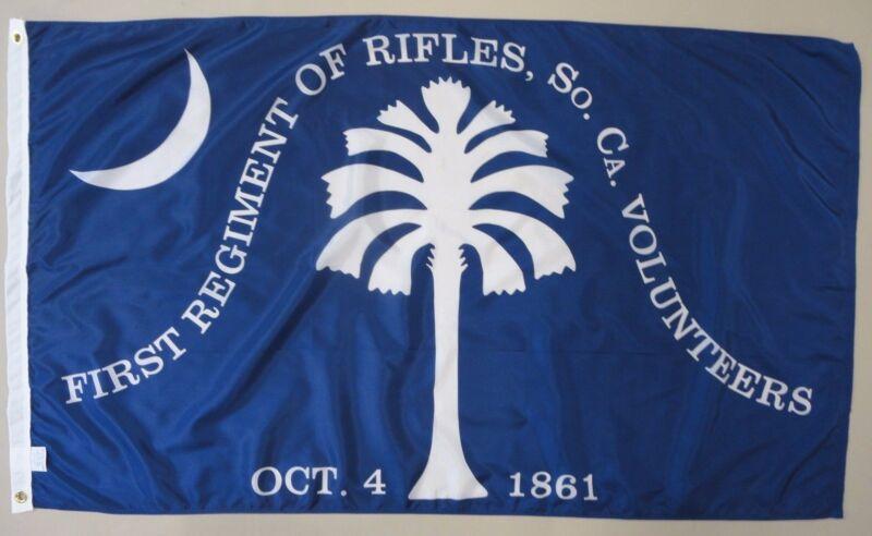 1st South Carolina SC Rifles Indoor Outdoor Historical Dyed Nylon Flag 3