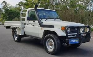 1992 TOYOTA LANDCRUISER HZJ75 4.2L 1HZ DIESEL 4X4 MANUAL UTE TRAY Mudgeeraba Gold Coast South Preview