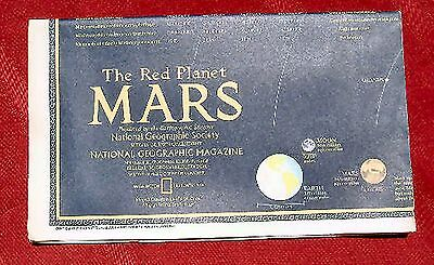 NATIONAL GEOGRAPHIC MAP - THE RED PLANET - MARS