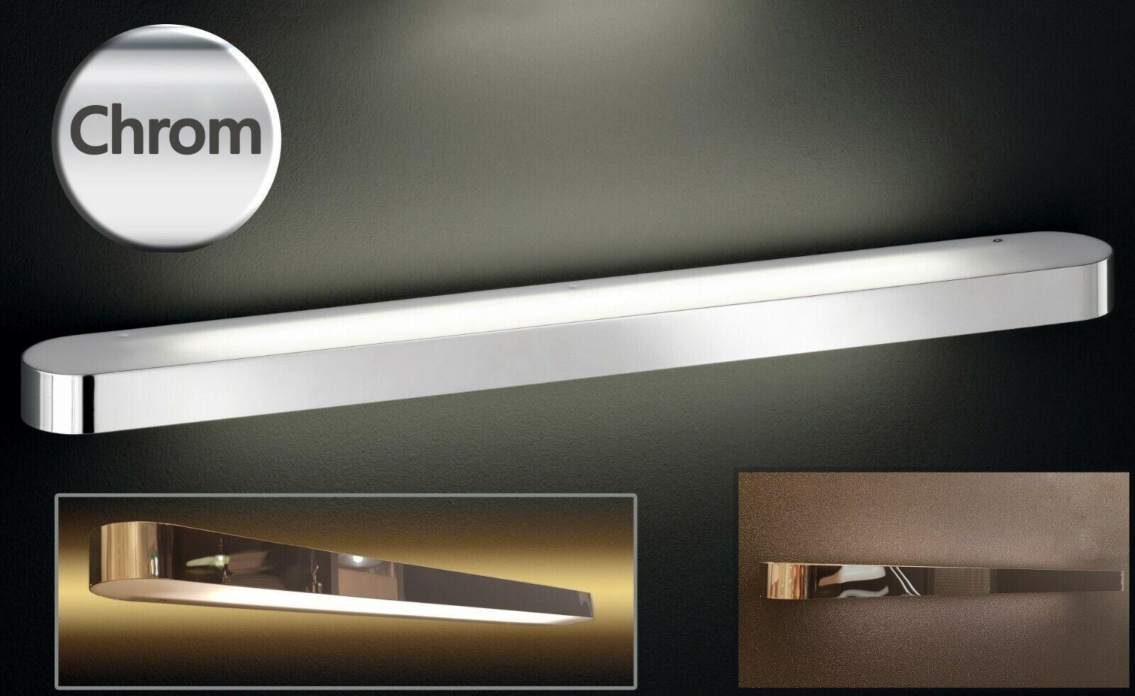 Details zu Wandlampe Chrom Spiegellampe 12 cm lang Badezimmer Lampe Wand  Leuchte Up & Down
