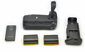 2x LP-E6 + BG-E14 Multi Power Battery Grip for Canon EOS 70D DSLR Camera