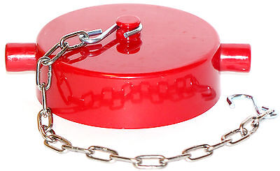 2-12 Nst Fire Hose Valve Hydrant Standpipe Cap And Chain Red Poly Pin Lugs