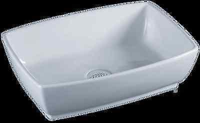"Vessel Sink Bowl - White Ceramic / Porcelain "" Tub """