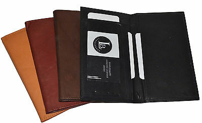 New Hand Crafted Genuine Soft Leather Checkbook Cover Top tear n Side (Hand Top Cover)