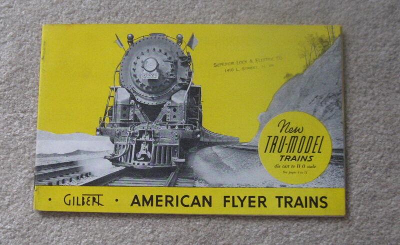 1938 GILBERT AMERICAN FLYER CATALOG  D1259 EXCELLENT +