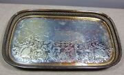 Footed Silver Gallery Tray