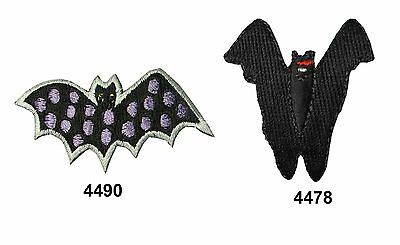 Halloween Bat Embroidery Iron On Applique Patch - Iron On Halloween Appliques