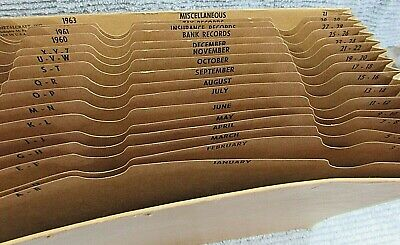 1960 General Metalcraft 9x12 Paper Accordion File Folder A-z Months 1-31 Free Sh