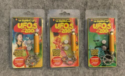 THE FLAMING LIPS U.F.O.S AT THE ZOO LAZER PEN LIGHTS CONCERT MERCH SET OF 3