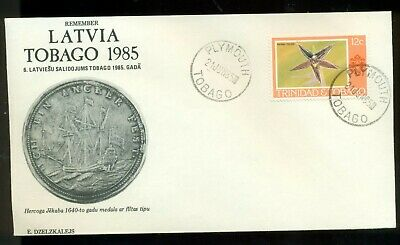 REMEMBER LATVIA 6th WORLD LATVIAN GATHERING TOBAGO 1985 EVENT COVER TRINIDAD T.