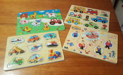 4x Wooden Puzzles