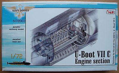 """CMK N72003 Detail Set """"Engine Section"""" für U-Boot VIIC Revell® 05015 in 1:72"""