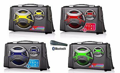 ALTAVOZ PORTATIL ALTAVOCES BLUETOOTH USB SD RADIO FM AUX KARAOKE RECARGABLE