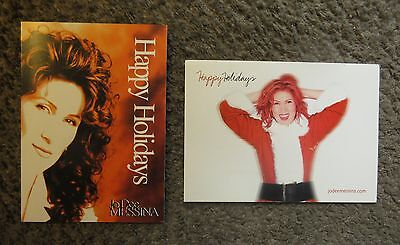 "LOT OF TWO 5""x7"" JO DEE MESSINA CHRISTMAS CARDS-EX.CON.SENT TO COUNTRY RADIO"