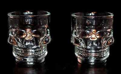 Origin Of Halloween Holiday (Halloween Holiday Retro Skull Shot Glass Set Day of the Dead Spooky Barware)