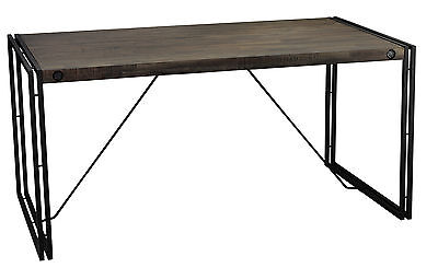Cortesi Home Thayer Wood Top Dining Table with Metal Legs