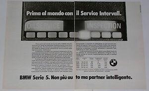 Advert-Pubblicita-1982-BMW-SERVICE-INTERVALL-SERIE-5-E28