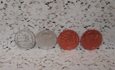 4 UNIVERSAL STUDIOS® FLORIDA 1999 Halloween Horror Nights Tokens Medallions