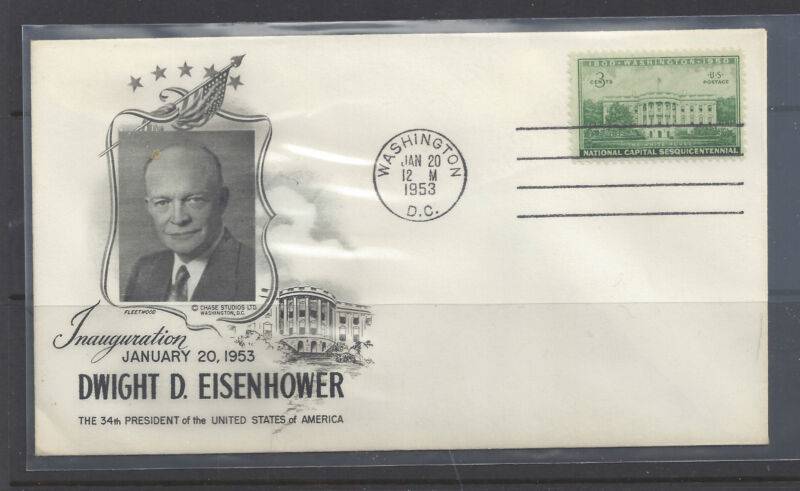Eisenhower 1st Term Inaugural Cover, Un-addressed, with Fleetwood Cachet