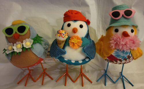 2021 Walmart Summer TableTop Spring Decor Fabric BIRDS - Lot Set of 3 spritz eek