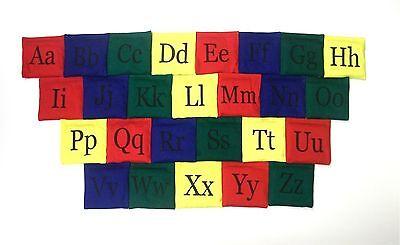 New Alpha Bean Bag set 26 alphabet letters cotton cloth child educational toy