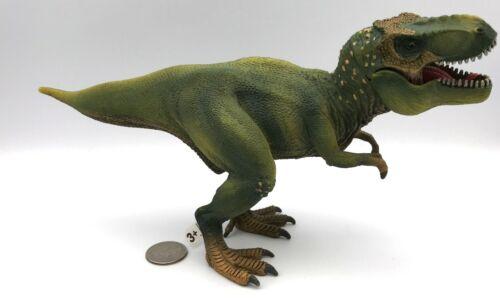 Schleich Dinosaur GREEN T-REX Tyranosaurus Realistic Large 14525 Figure 2011