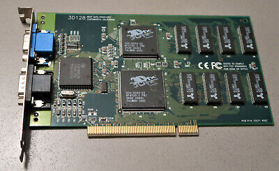 Best Data 3D 4MB 3DFX PCI Voodoo Vintage PC Computer Video Graphics Gaming Card