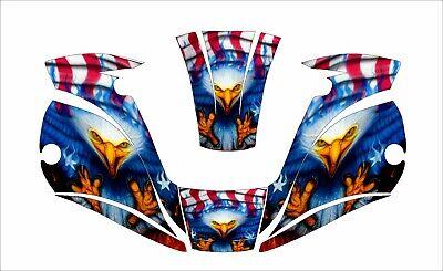 Miller Digital Elite 257213 Tatinium Welding Helmet Decal Sticker Eagle American