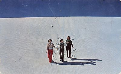 White Sands National Monument New Mexico Ladies Trek Down Dune 1959 Postcard