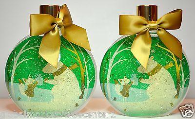 2 Bath & Body Works Holiday Vanilla Bean Noel Snow Globe ...