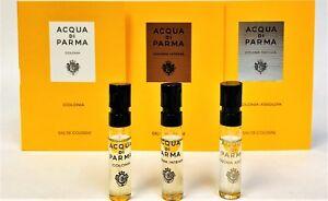 ACQUA DI PARMA COLONIA, INTENSA & ASSOLUTA 1.5ml .05oz EDC COLOGNE SPRAY SAMPLE