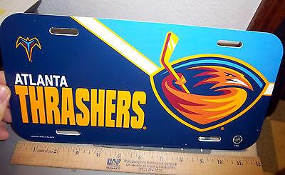 Atlanta Thrashers NHL hockey team 12 x 6 License Plate, made in the USA Atlanta Thrashers Hockey Team