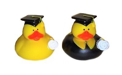 yellow rubber ducks set of 2 graduation cap and gown 2