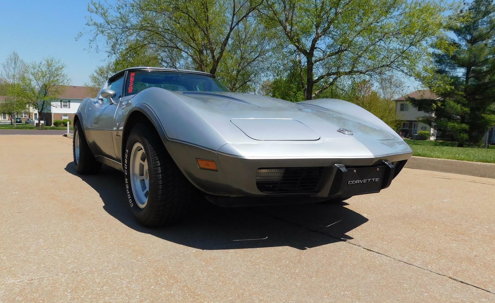 1978 Silver Chevrolet Corvette  L82 | C3 Corvette Photo 3