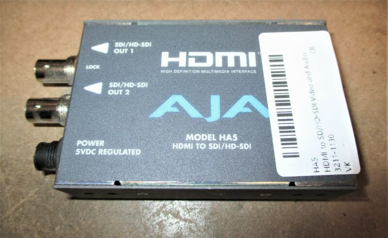 AJAHA5HDMI to SD/HD-SDI Video and Audio Converter - No AC Adapter