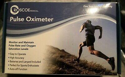 Roscoe Medical Finger Pulse Oximeter O2 Monitor Finger Pulse Oxygen Monitor