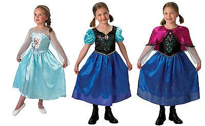 KOSTÜM FROZEN Prinzessin Anna Elsa Karneval Kleid Mädchen Original Disney