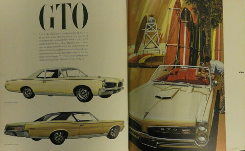 1967 PONTIAC SALES BROCHURE  -- LARGE CATALOG STYLE BOOK
